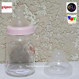 Glass Feeding Bottle pink 160ml