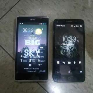 Defective Acer and Alcatel phone