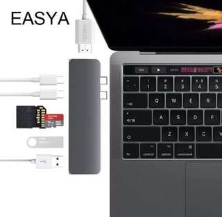Easya Hyperdrive 7 in 1 Spacegrey USB C hub adapter with HDMI & SD Card with warranty