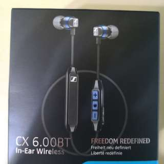 Sennheiser Bluetooth CX 6.00 BT Bluetooth in ear wirelees earphone