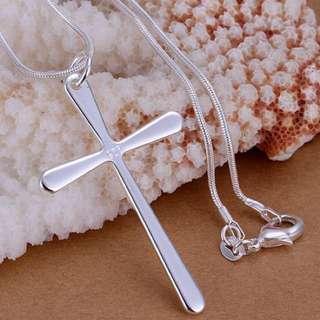 92.5 cross pendant necklace
