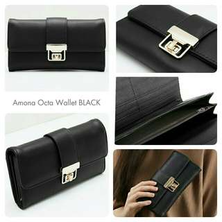 DOMPET WANITA/IMPORT/AMONA OCTA/BLACK