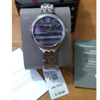 SALE Fossil Stainless Steel Ladies Textured MOP Watch BQ3246