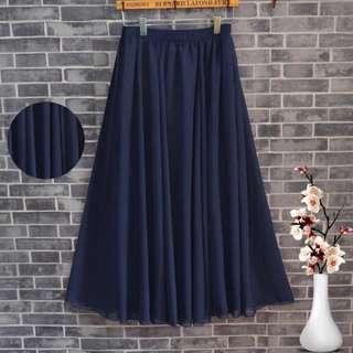 ✨全新1件 藏藍紗裙 實拍在最後