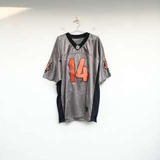 二手 NFL NIKE 黑灰色 足球 運動 彈性 透氣 上衣 寬T 明太子 0318