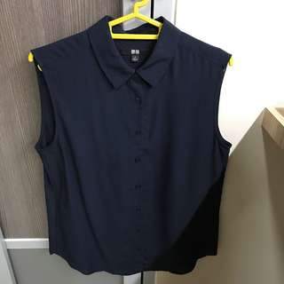 Uniqlo navy office blouse size S