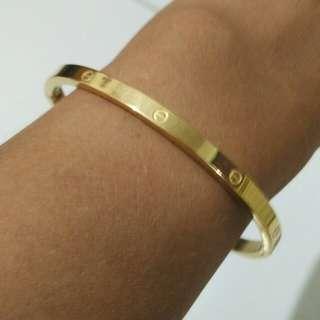 Gelang Cartier titanium gold
