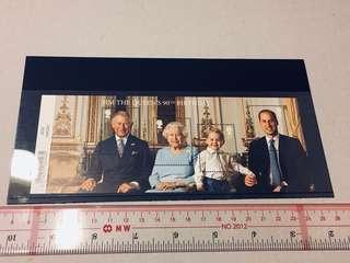 Queen Elizabeth 英女皇 90大壽小全張 喬治小王子 威亷 英國 郵票