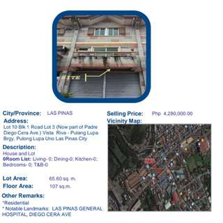 For sale House and lot at Las Piñas Cavite