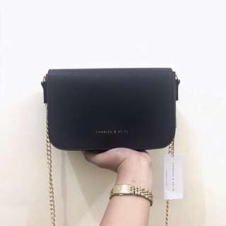 Charles and Keith Chained Sling Bag