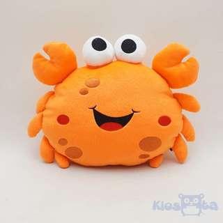 boneka bantal kepiting orange crab lucu
