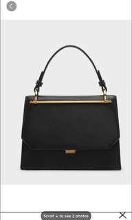 Charles & Keith Structured handbag black