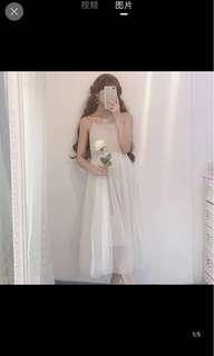 [P.O] Tulle Midi Dress