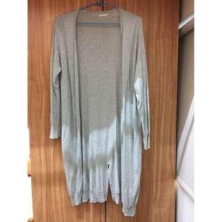 gu -灰色針織外套