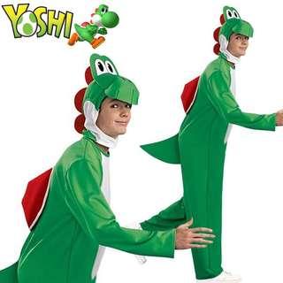 成人男女均可 Super Mario 孖寶兄弟 Yoshi 恐龍 超級瑪里奧 角色扮演 遊戲服飾 派對 聖誕節