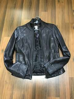 Authentic Calvin Klein Women's Leather Jacket - US XS