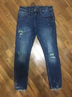 Zara Man Distressed Skinny Jeans Size 31us