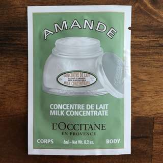 L'OCCITANE Almond Milk Concentrate Sachet 6ml