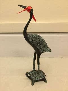 天鹤奇龟 Fengshui Crane on Auspicious Tortoise