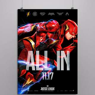 Justice League A3 Flash Poster