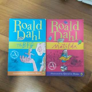 Roald Dahl's famous books for kids.