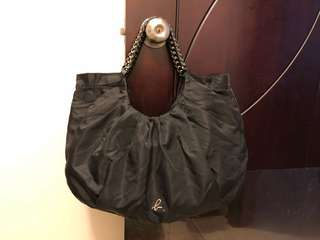 agnis b 黑色手提袋