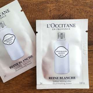 L'OCCITANE Reine Blanche Illuminating Toner Sachet 2ml