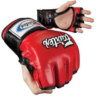 Fairtex Ultimate Combat MMA Gloves - Open Thumb - Red / Black