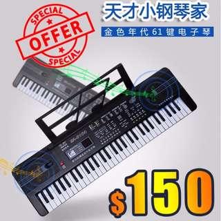$150 (訂貨)  - 多功能 61鍵電子琴 電子咪 嬰兒 幼兒 樂器 音樂 玩具琴 Piano (包發貨自取點運費)