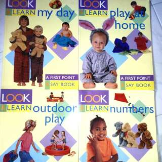 Look & Learn: A First Point & Say Book (Numbers, Outdoor Play, My Day & Play at Home)