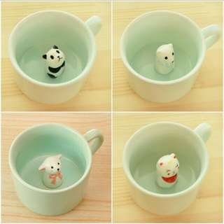 (Instock) Handcrafted Hidden Animal cup
