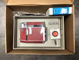 Lomo Instant Square Pigalle 即影即有 紅銀皮革版