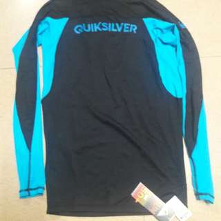 Quiksilver rashguard rash guard authentic (LARGE)