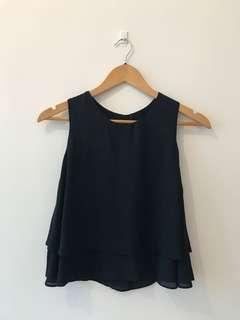 Zara Top - Navy Blue