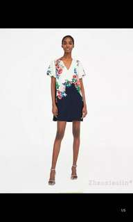 🚚 European and American floral print dress