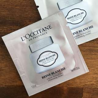 L'OCCITANE Reine Blanche Whitening Infusion Cream Sachet 1.5ml