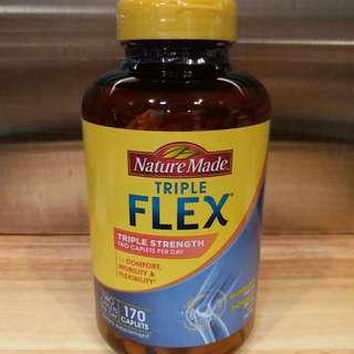 美國Nature Made 葡萄糖胺 1500亳克+軟骨素800亳克+MSM 750亳克,170粒藥片
