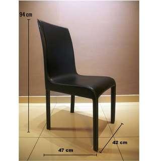 High Back Dining Chair (Black)