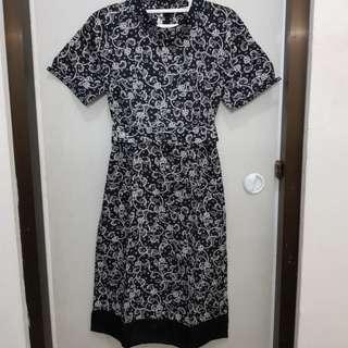 Batik dress hitam - batik keris