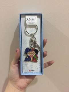 Korea couple keychain