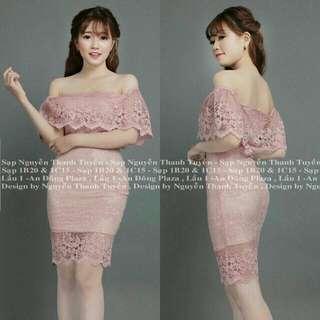 Off Shoulder Lace Dress EL28