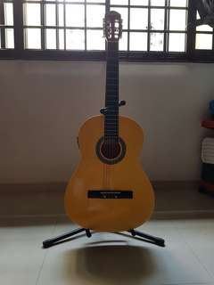 Memphasis guitar with stand acoustic guitar