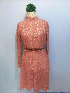 Old Rose Lace Dress
