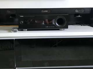 Yamaha SR-300 Receiver with built-in subwoofer & soundbar