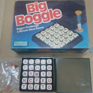 1987年 Big Boggle 3 Minute Word Game ,新舊如圖