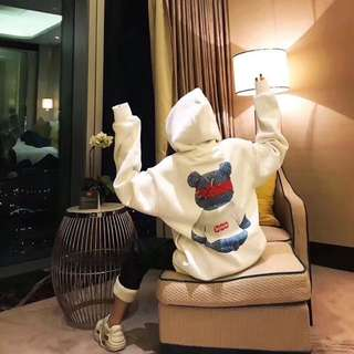 SupremexLV bear hoodie with blk or white