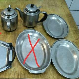 白鐵盤小茶壺