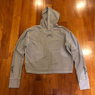 A Cold Wall (ACW) Grey Cropped Hoodie