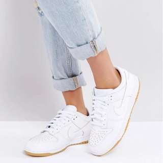 ASOS Nike Dunk Low Essential Trainers in White
