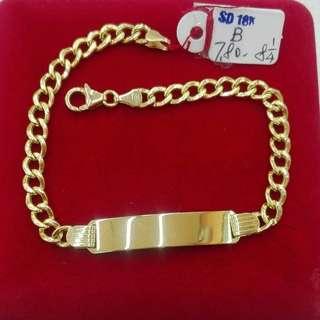 18K SAUDI GOLD I.D. BRACELET ';';
